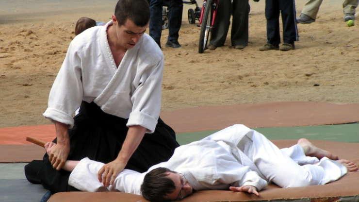 Aikido demonstration in Stromovka (June 2008)