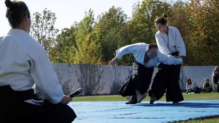 Aikido demonstration on Akimatsuri