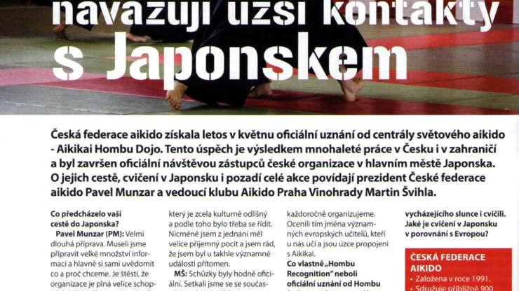 Česká federace aikido uznána od Aikikai Hombu Dojo