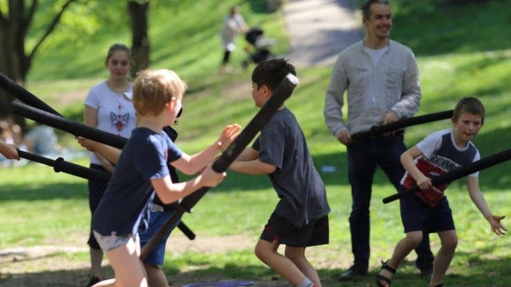 Weeks of outdoor training for children